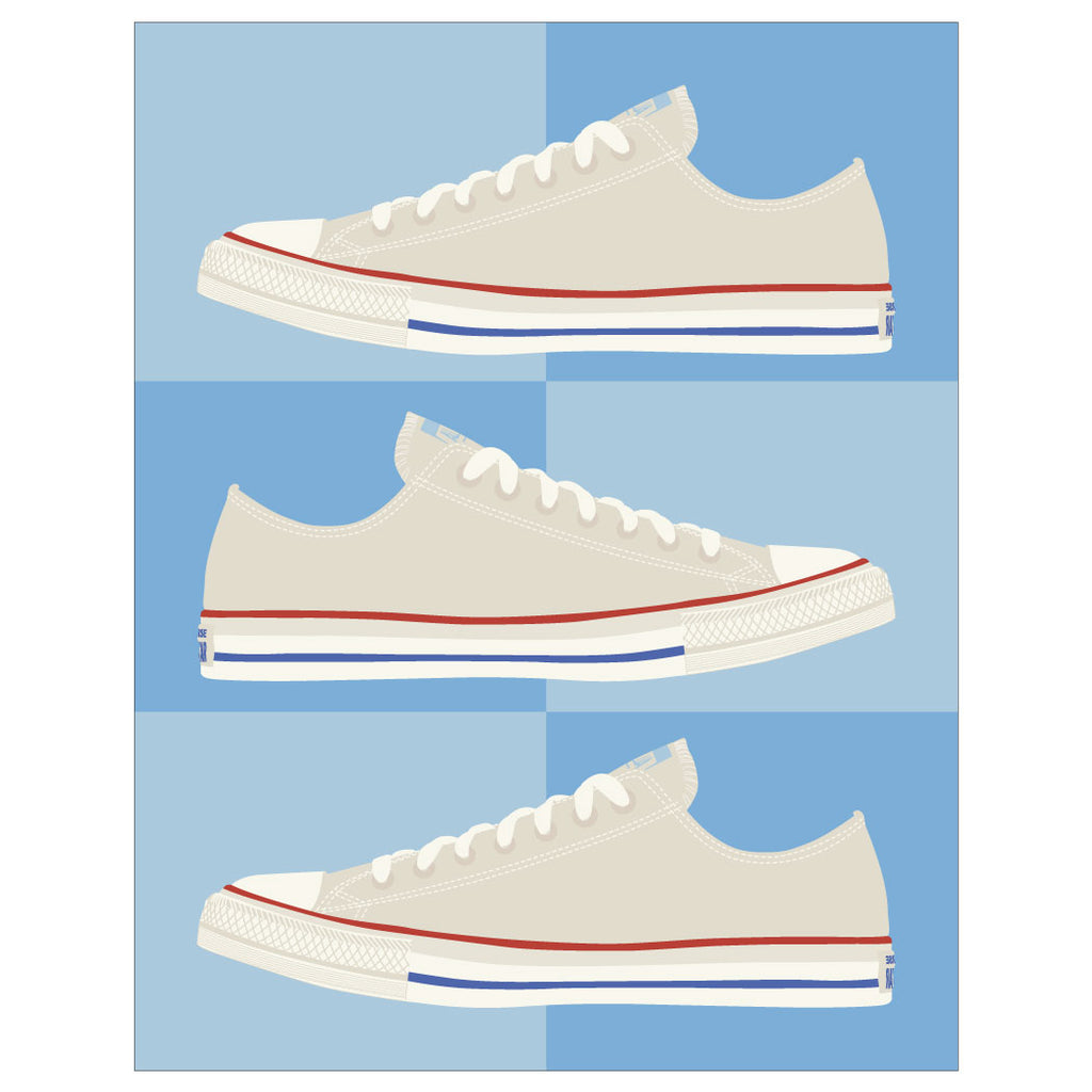 Chuck Taylor All Stars Red, White & Blues  Magnet & Greeting card