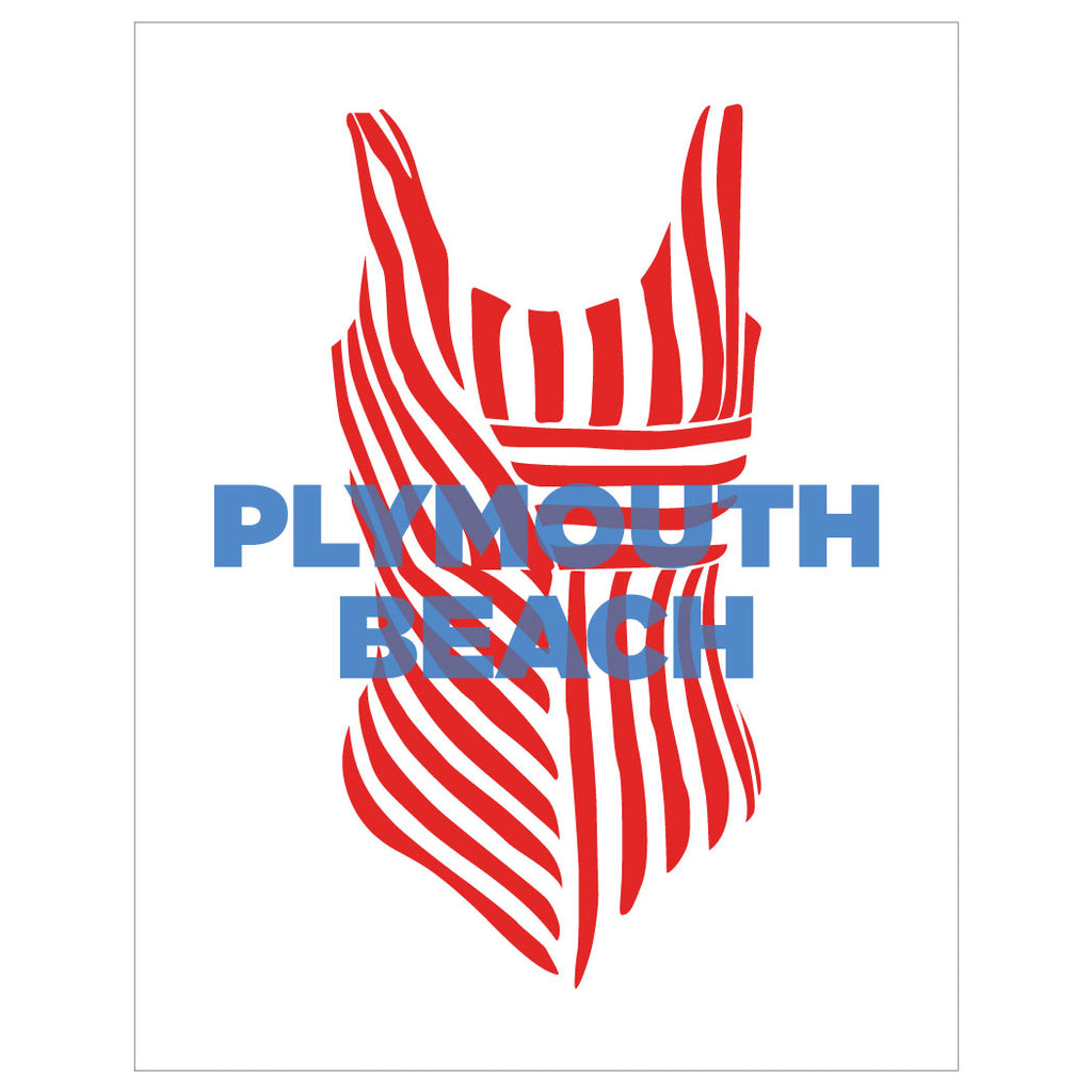 Plymouth Beach, Plymouth MA Magnet & Greeting Card