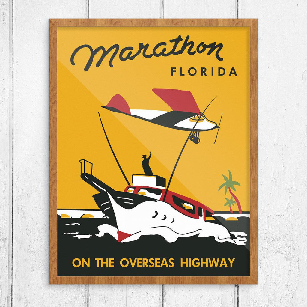 Marathon, FL, on the Overseas Highway Vintage Print