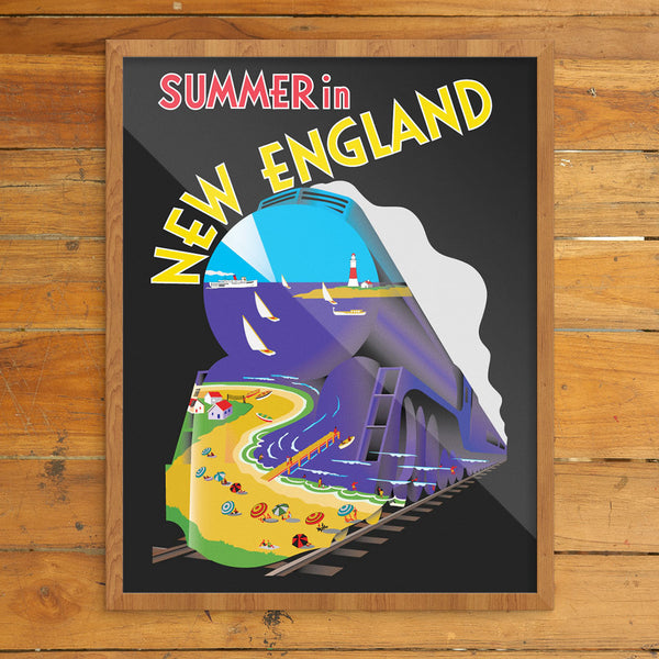 Summer in New England Travel Poster 11 x 14 Print