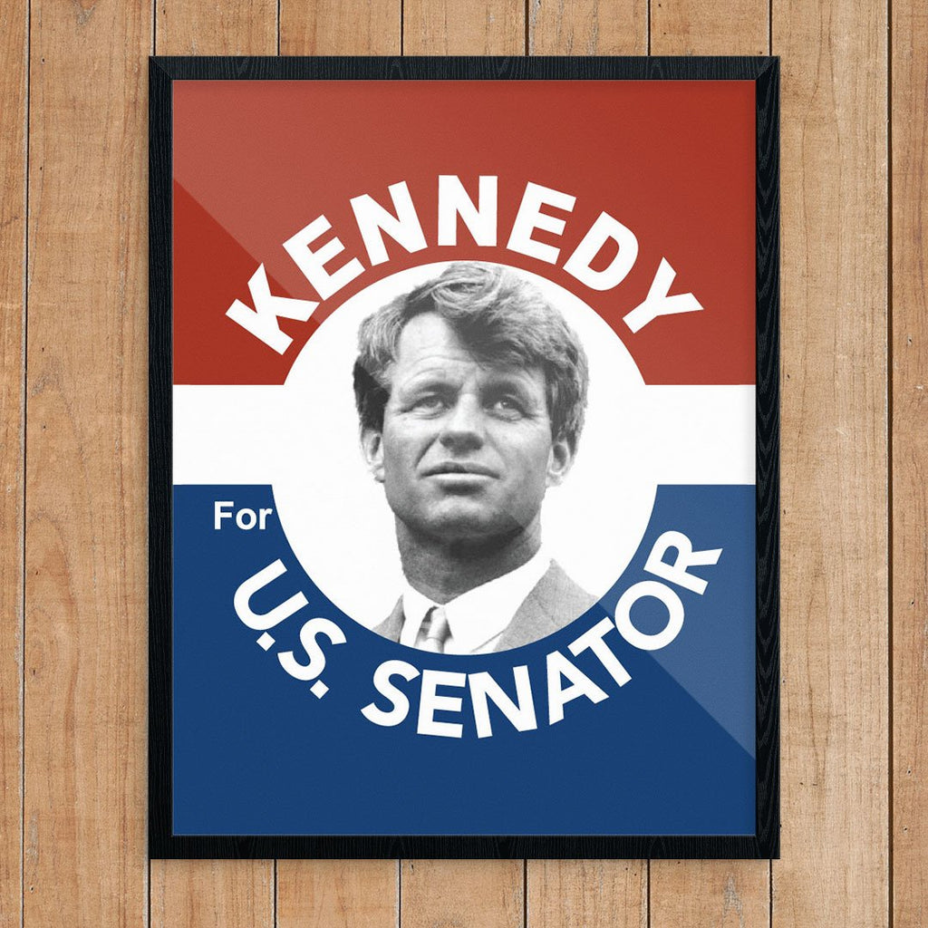 Robert Kennedy for US Senate Political Poster Print