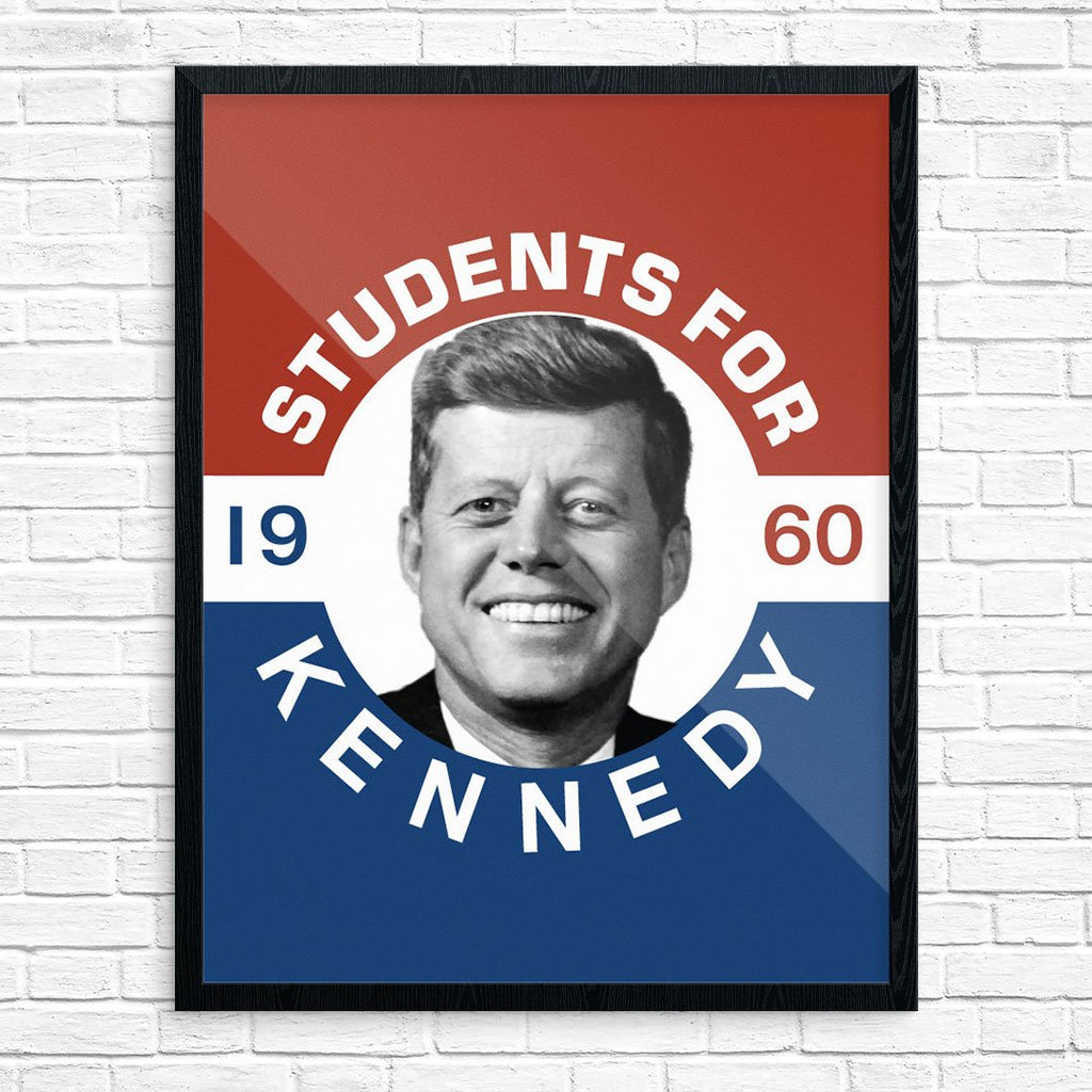 Students for Kennedy Political Poster Print