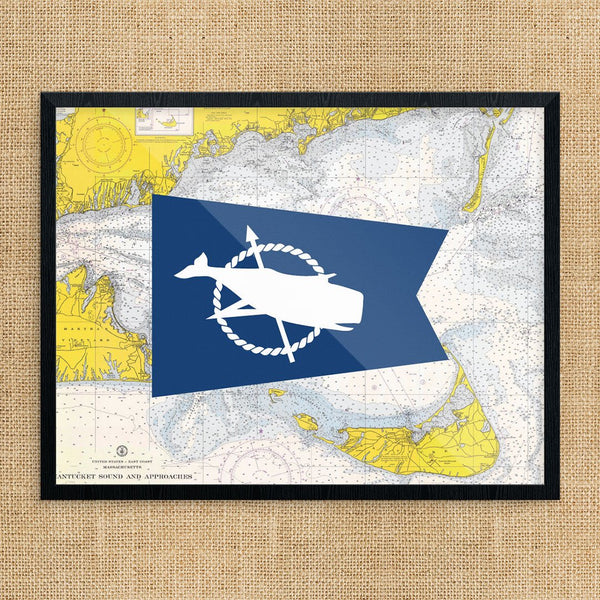 Nantucket Colorful Summer Flag Print