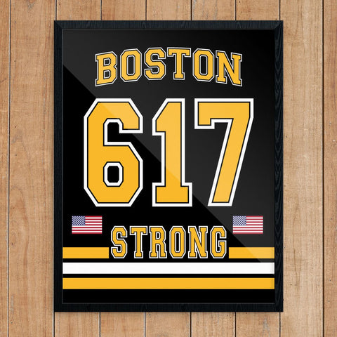 Boston 617 Strong Bruins Style Print