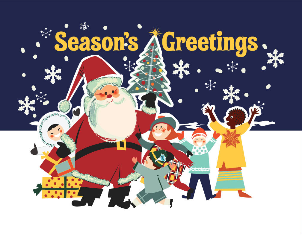 Season's Greetings from a Diverse World Magnet