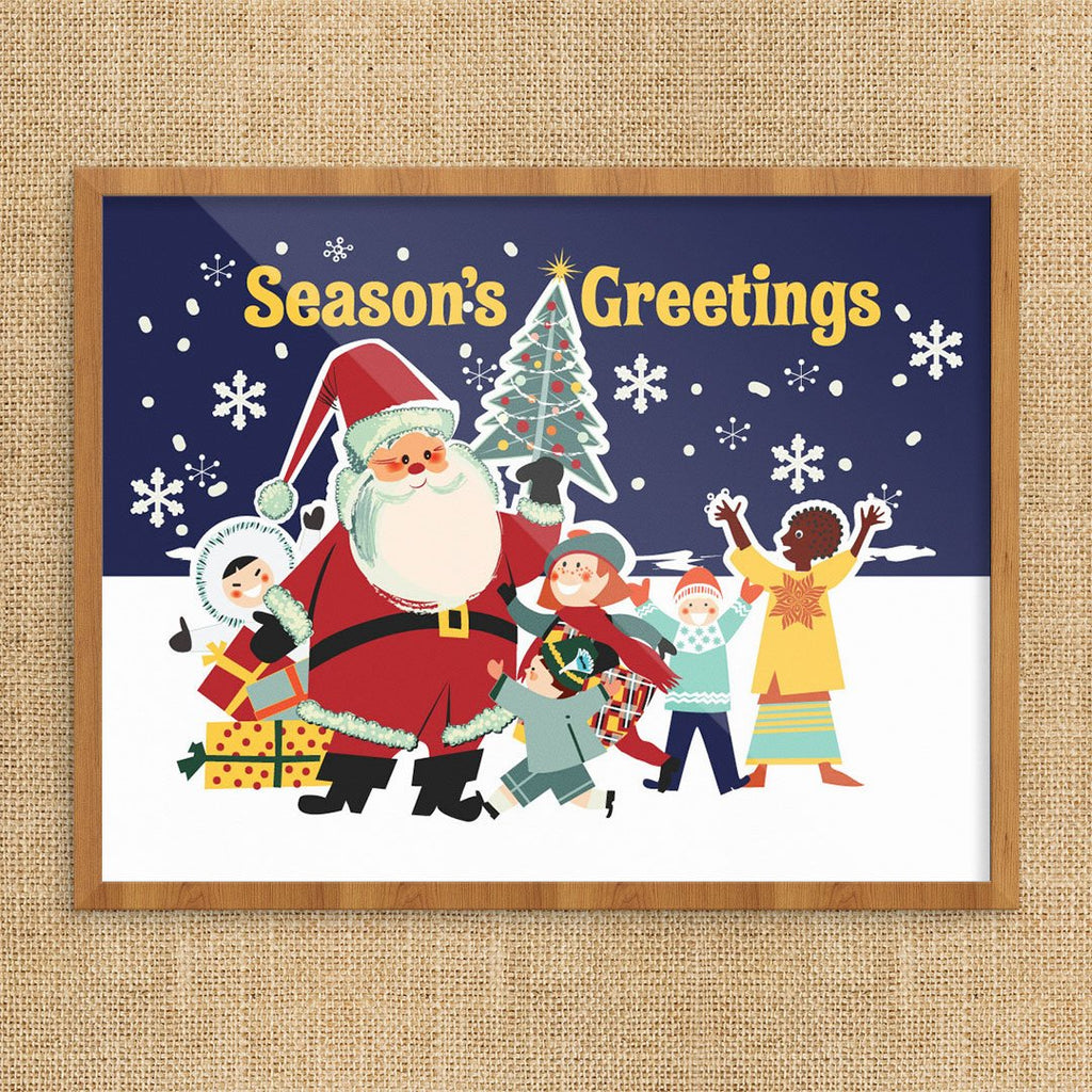 Season's Greetings from a Diverse World 11 x 14 Print