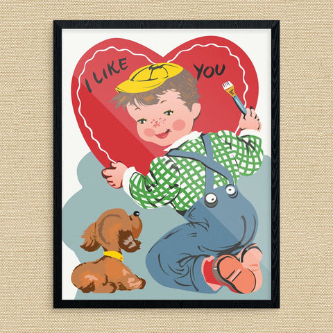 I Like You Valentine Print