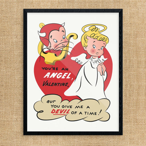 You're an Angel Valentine Print