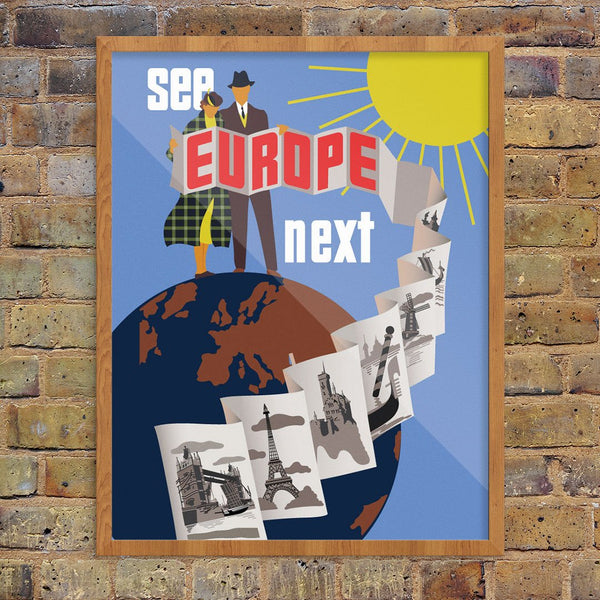 See Europe Next Travel Poster