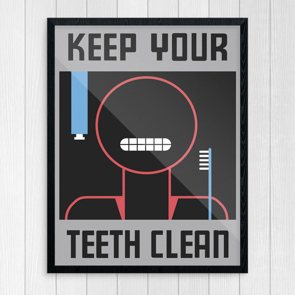 Keep Your Teeth Clean 11 x 14 Print