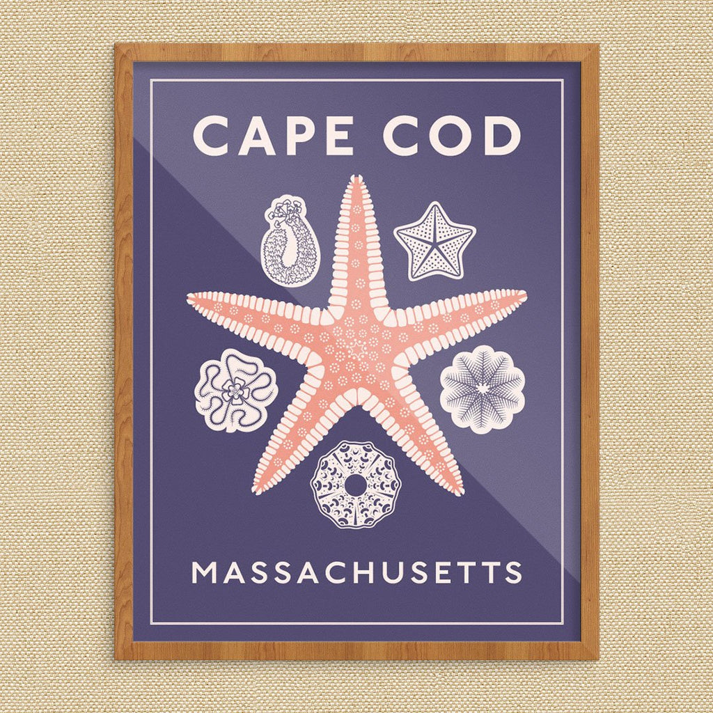 Cape Cod Mass Starfish Print
