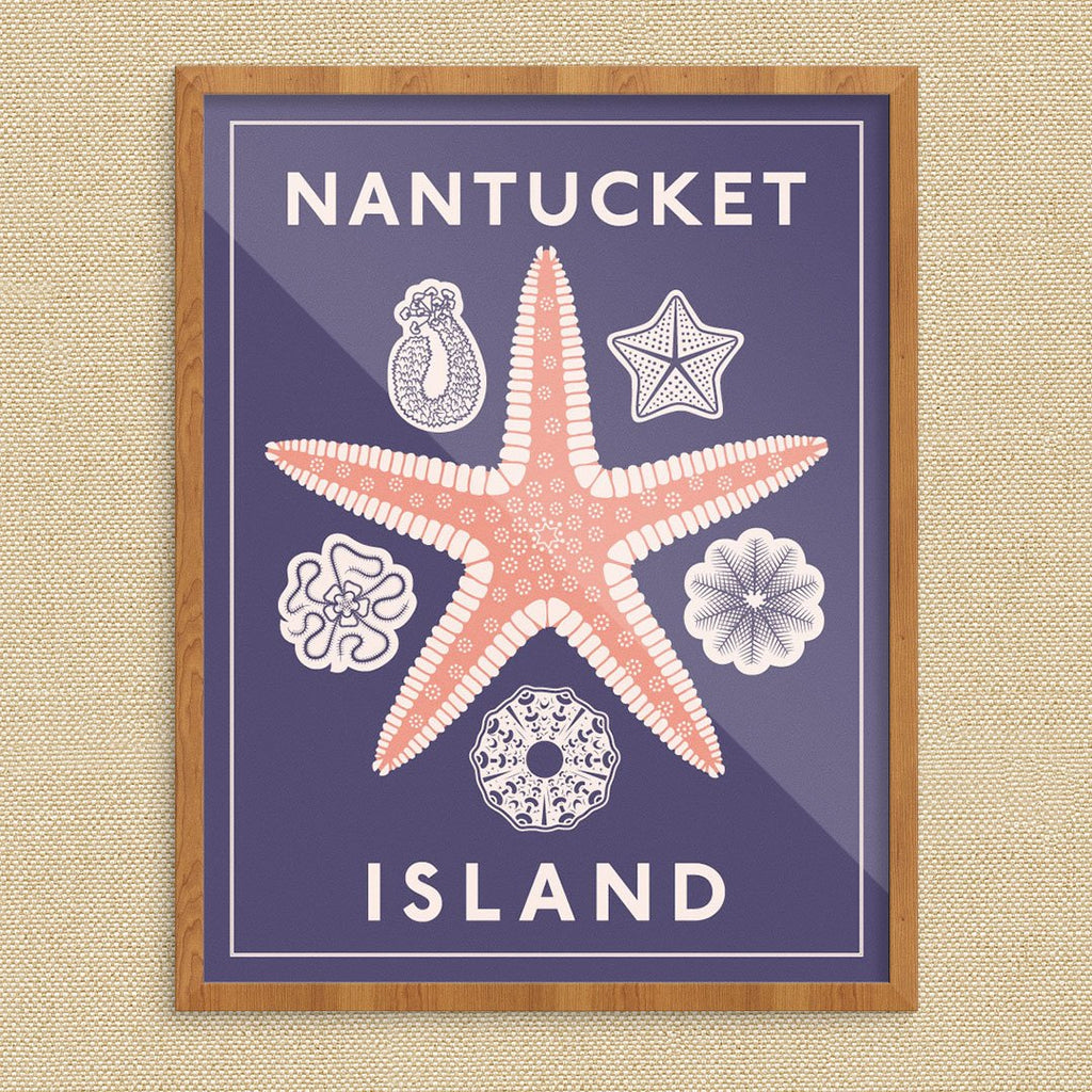 Nantucket Island Starfish Print