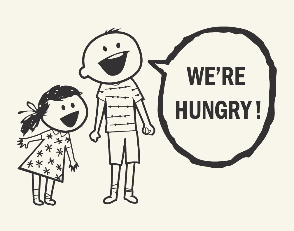 We're Hungry Kids Magnet