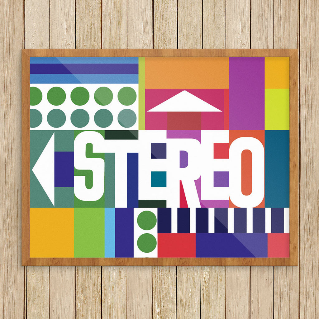 Stereo Sound & Colors 11 x 14 Print
