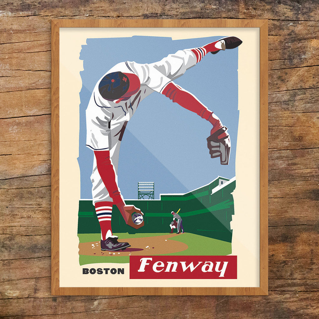 Boston Fenway Pitcher 11 x 14 Print