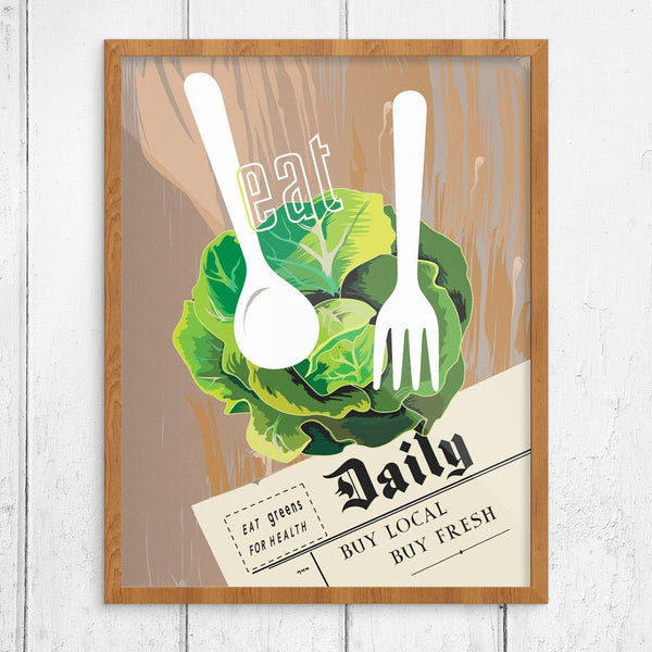 Eat Fresh Greens Daily Print