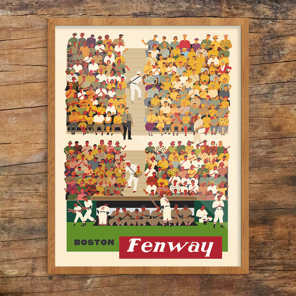Boston Fenway Baseball Stands 11 x 14 Print