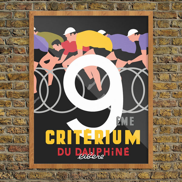 Criterium Bicyclists Print