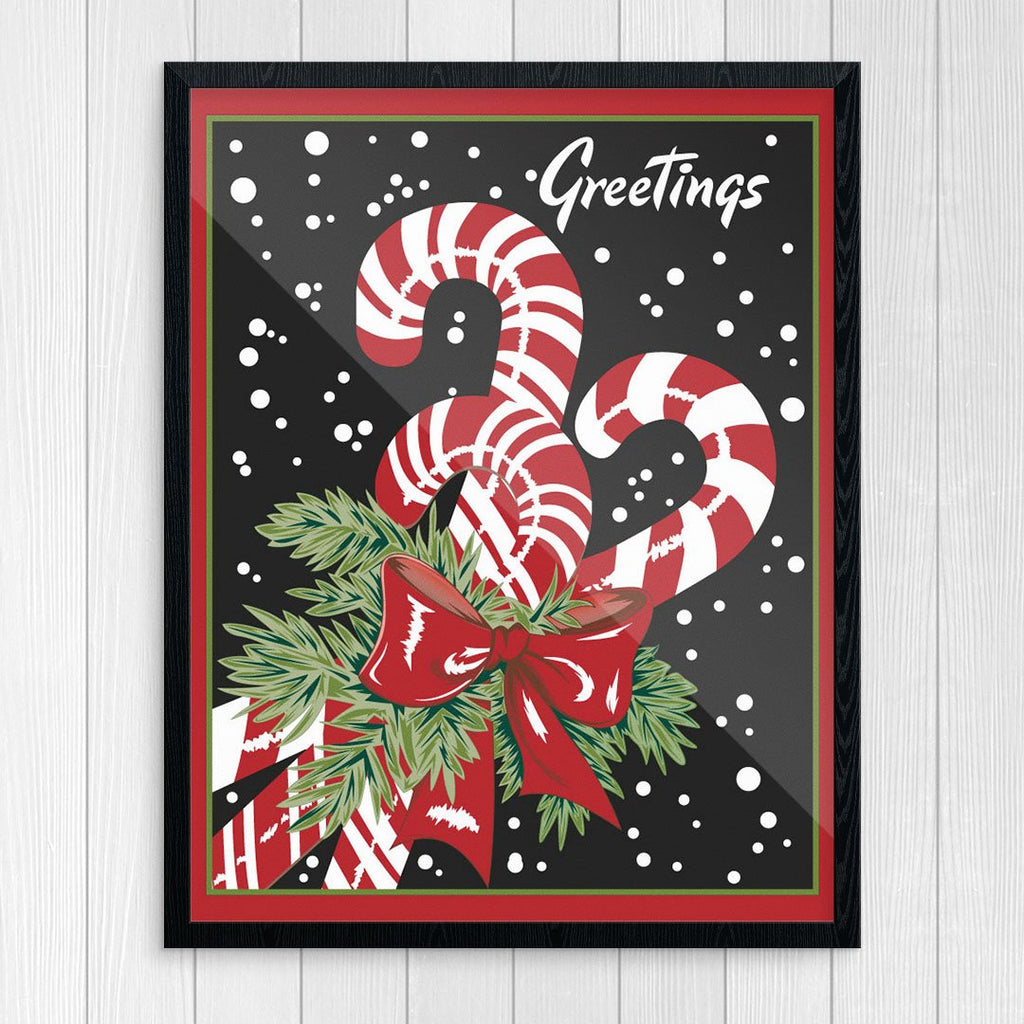 Candy Cane Greetings Print