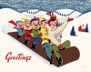 Toboggan Fun Greetings Magnet