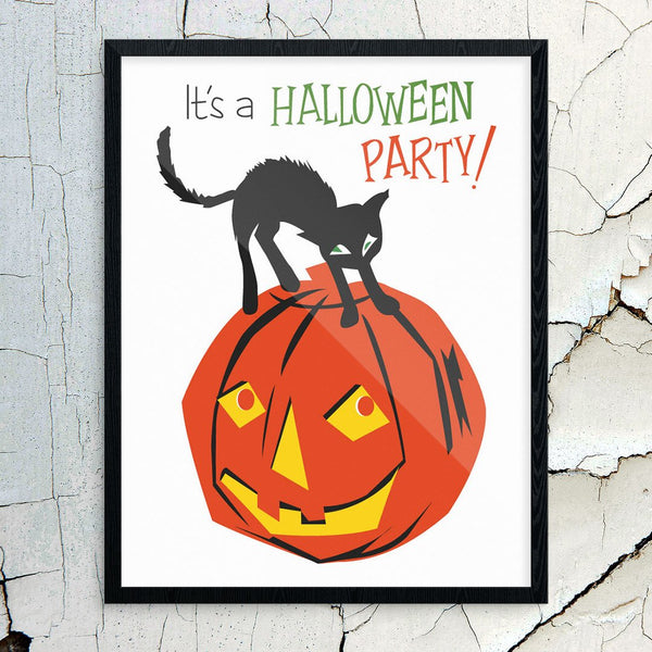 It's A Halloween Party  Print