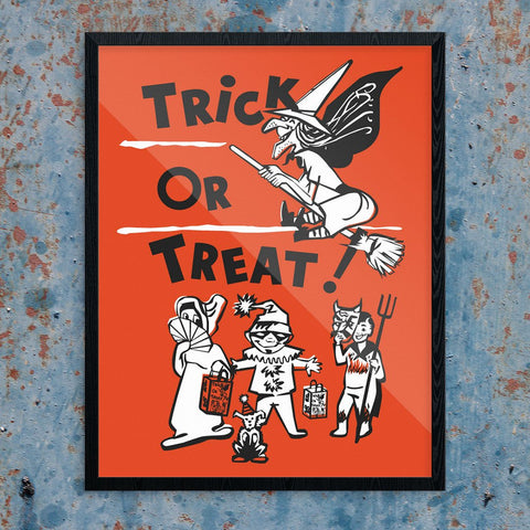 Halloween Trick or Treaters Print
