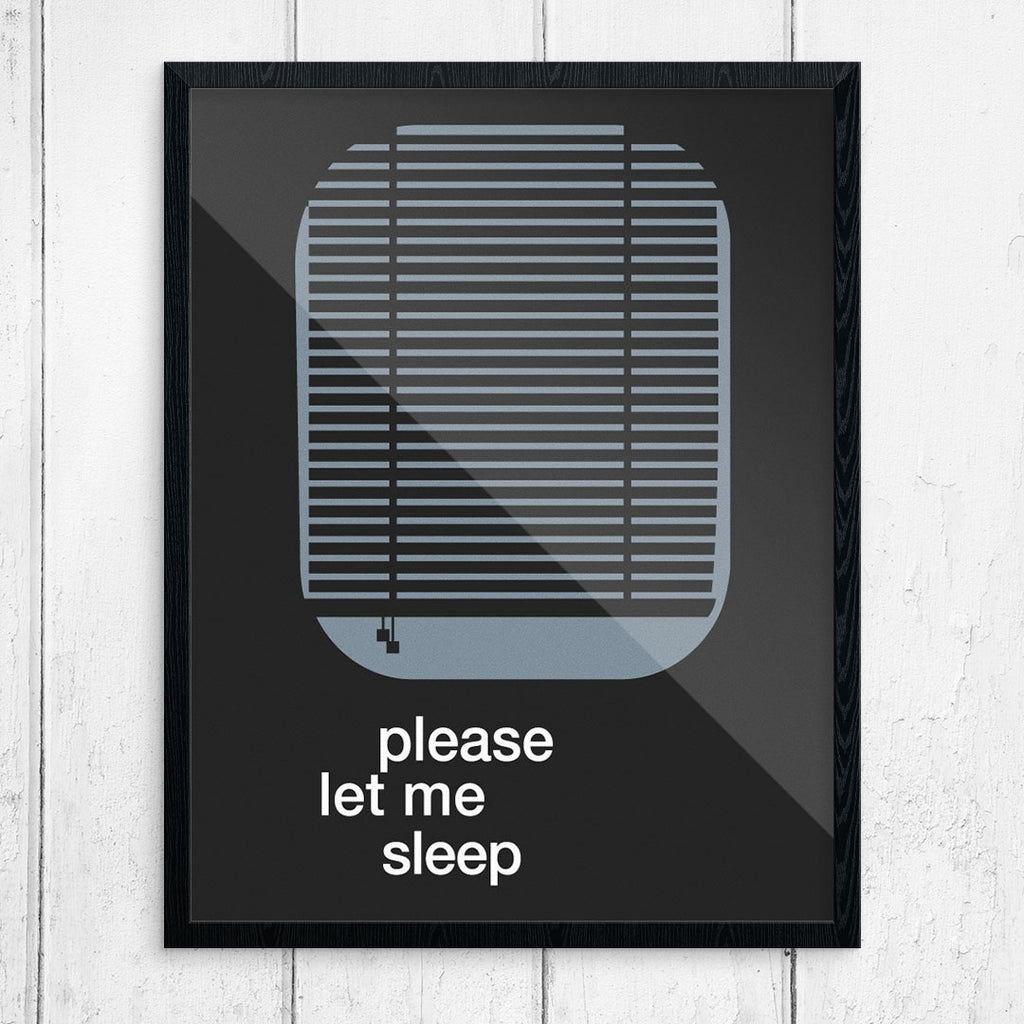 Please Let Me Sleep 11 x 14 Print