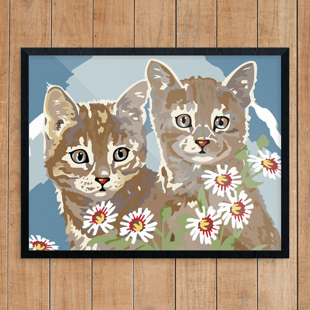 Paint By Number Kittens Print