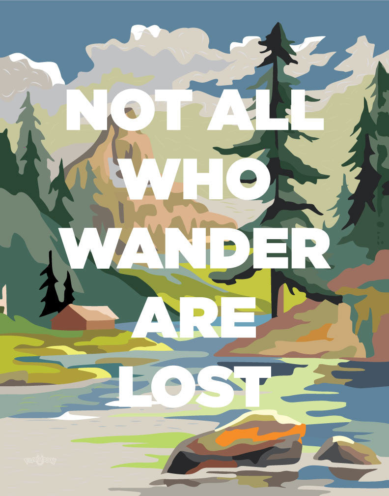 PBN Not All Who Wander Are Lost Magnet