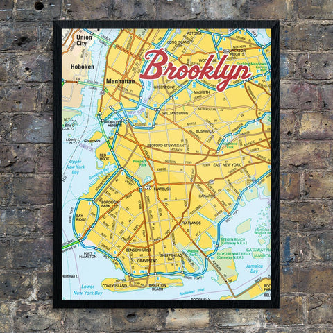 Brooklyn New York Contemporary Map Print