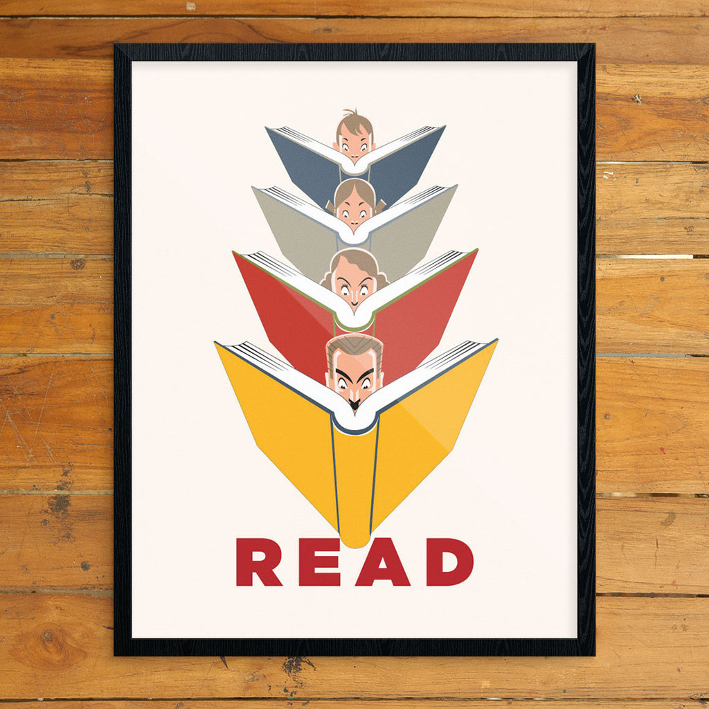 Read Book Lovers 11 x 14 Print