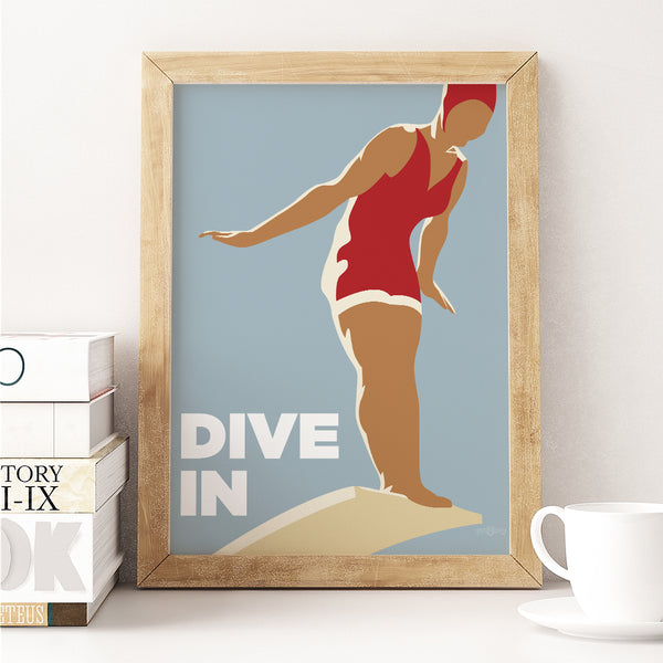 Dive in Woman Prints