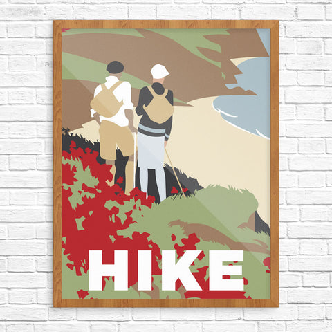Beach Hikers Print