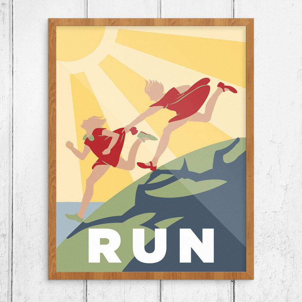 Run Sunshine Kids Print
