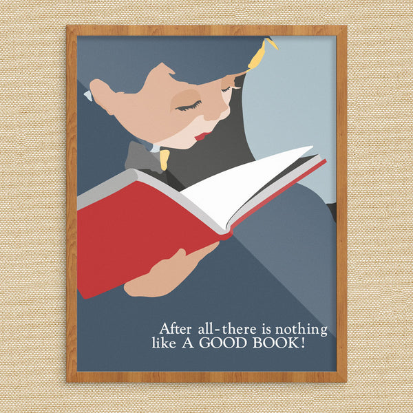 There Is Nothing Like A Good Book 11 x 14 Print