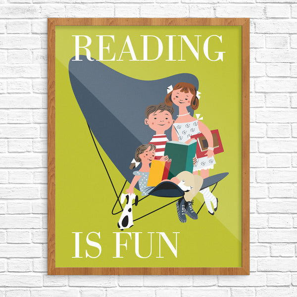 Reading is Fun 11 x 14 Print