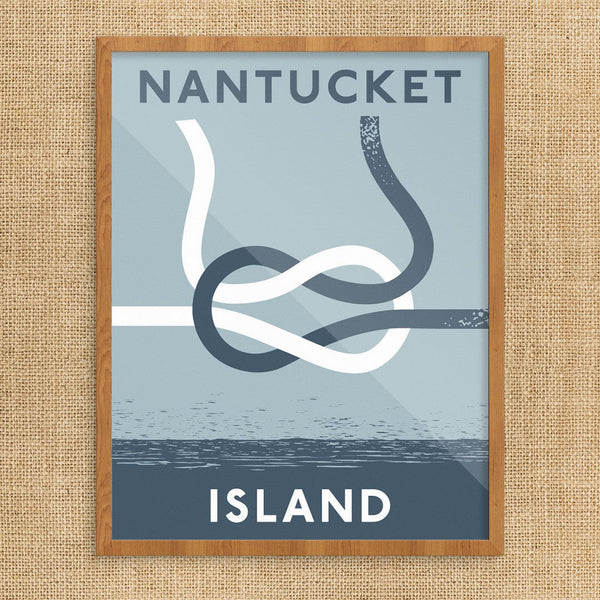 Nantucket Island Square Knot Print
