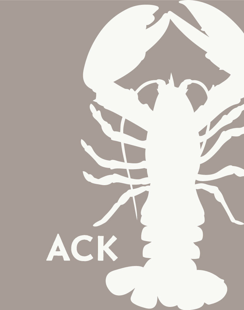 Nantucket ACK Lobster Silhouette Magnet