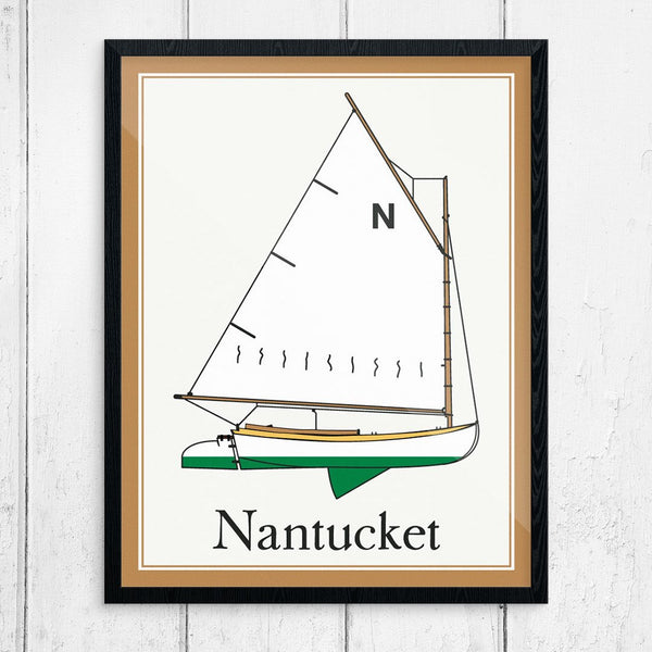 Nantucket Beetle Cat Sailboat Print