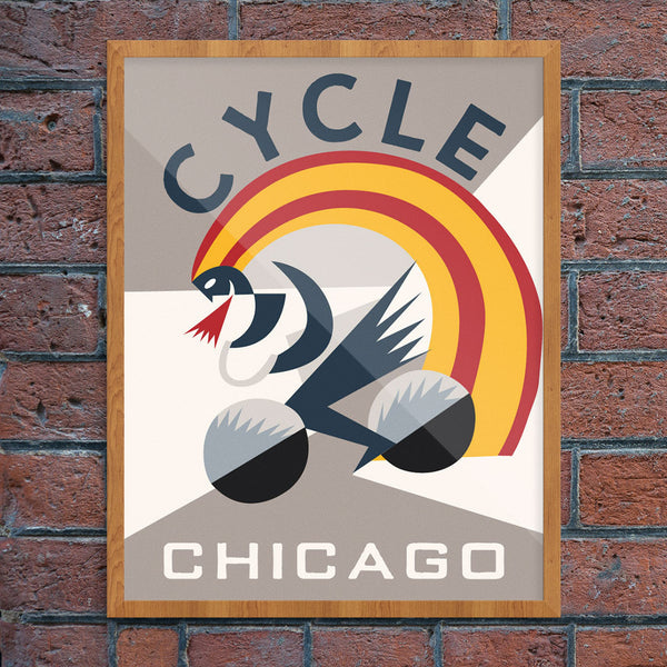 Cycle Chicago 11 x 14 Print