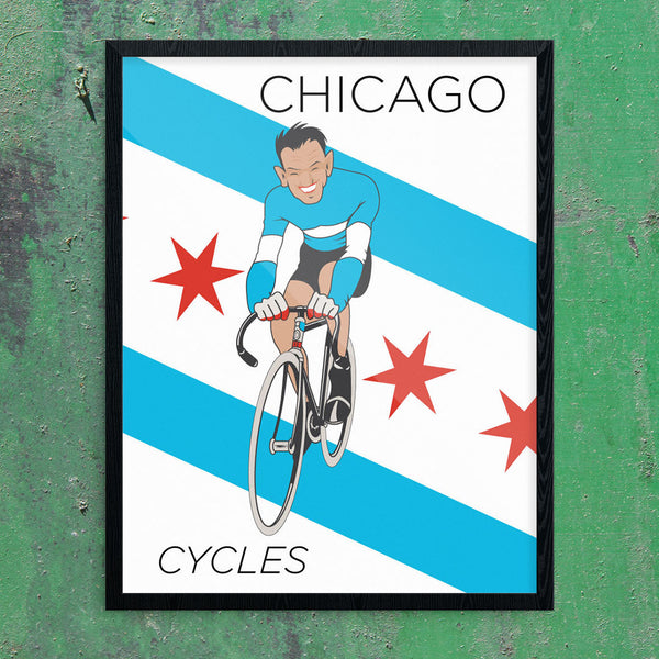 Chicago Cycles 11 x 14 Print