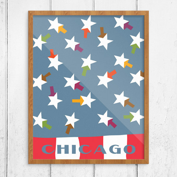 Chicago Summer Flag 11 x 14 Print