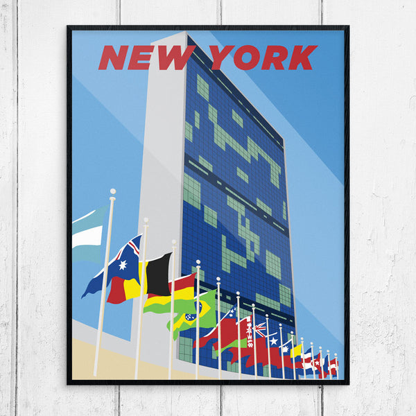 New York United Nations Building 11 x 14 Print