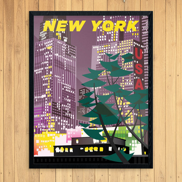 New York City at Night 11 x 14 Print