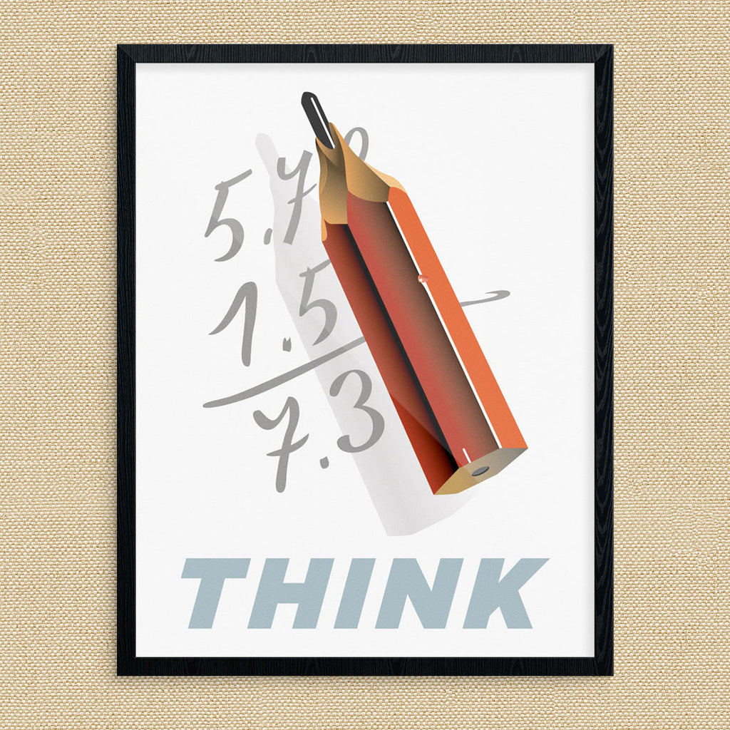 Think Pencil Calculations 11 x 14 Print