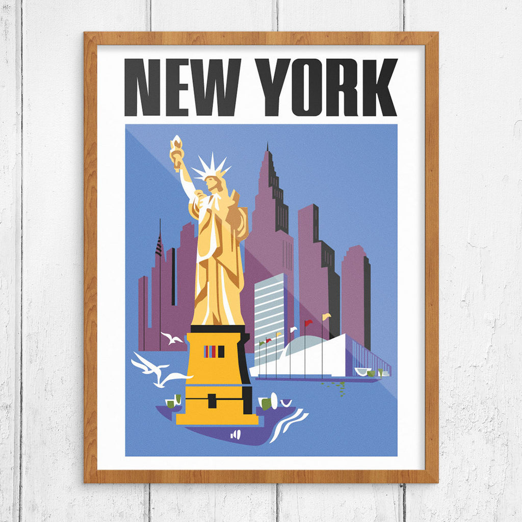 New York City Sights 11 x 14 Print