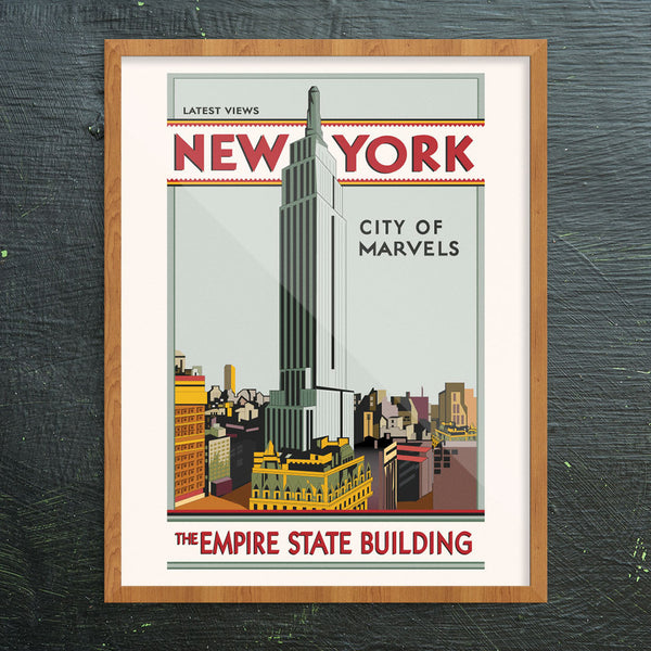 New York City Of Marvels Empire State Building 11 x 14 Print