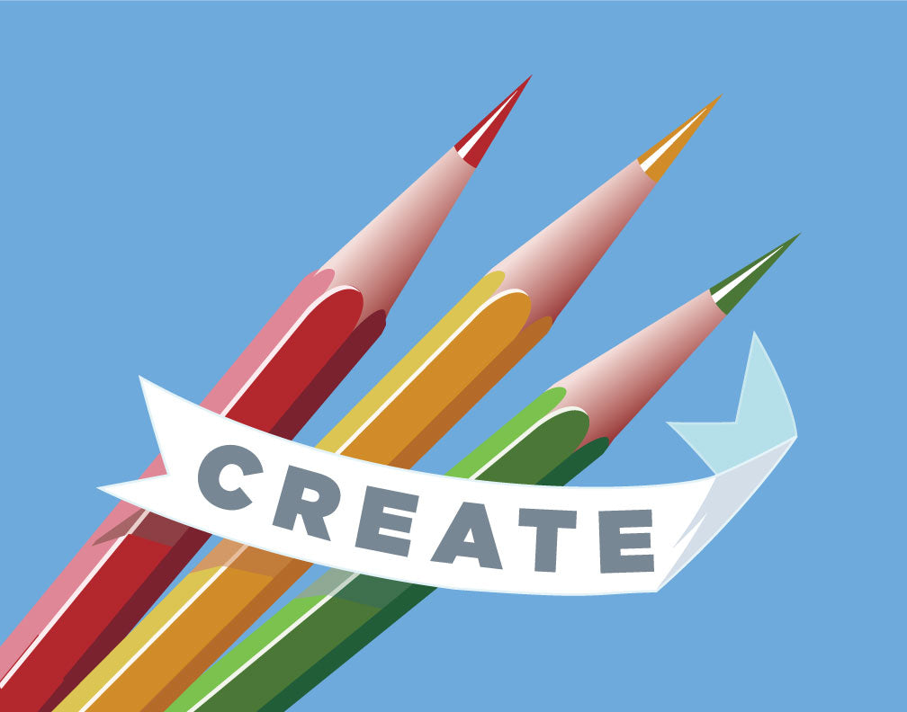 Create Colorful Pencils Magnet