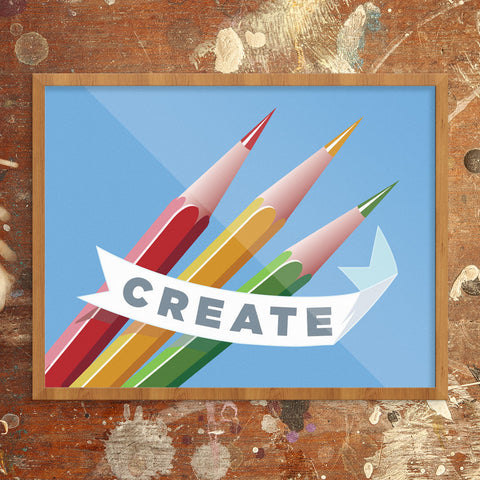 Create Colorful Pencils 11 x 14 Print