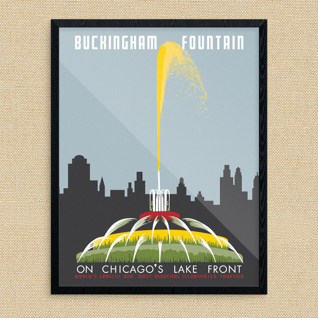 Chicago Magnets Chicago Buckingham Fountain Photo Magnet Chicago Souvenirs